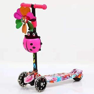 HUAXING Niños Scooter Triciclo 3 en 1 Paseo en Bicicleta de Equilibrio en la conversión de