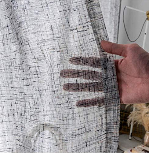 TYPING Cortinas Translúcidas Modernas Salón De Té Japonés Mampara Divisoria De Sombreado De Algodón Y Lino Decoración De Terraza Balcón Instalación De Gancho 1 Panel,300x270cm