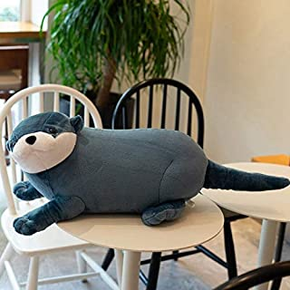 Creatieve schattige rivierotter knuffel realistische wilde dieren gevulde pop zachte mooie luiaard speelgoed leuke gift vo...