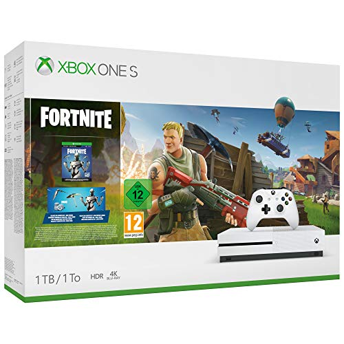Microsoft Xbox One S - Consola de 1 TB, Color Blanco + Fortnite