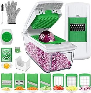 Vegetable Choppers, Food Chopper Cutter Onion Slicer Dicer, Veggie Slicer Manual Mandolin Slicer for Garlic, Cabbage, Carrot, Potato, Tomato, Fruit, Salad