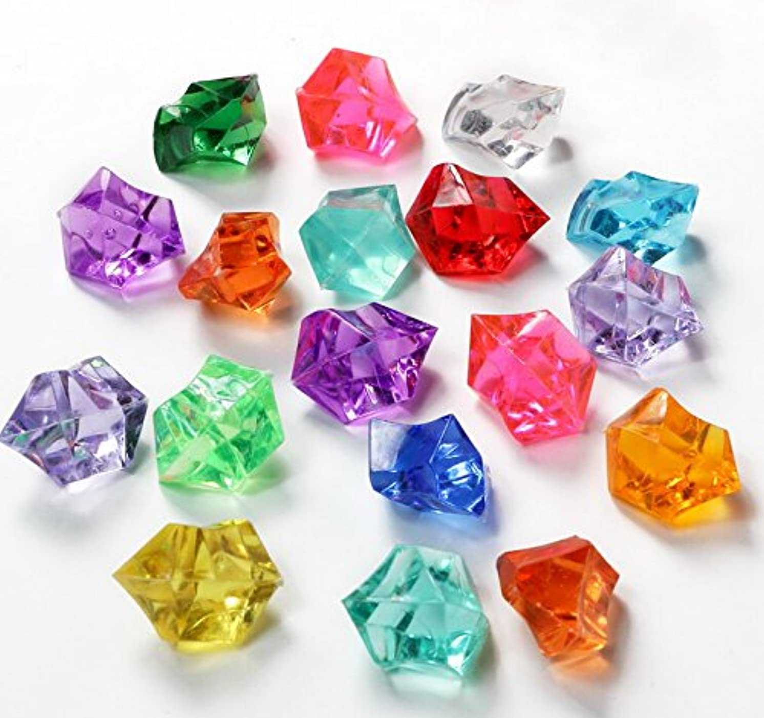AScreavention Translucent Acrylic Ice Rocks Crystals Gems for Vase Fillers, Table Scatters, etc. 300gram (Random Mix Colors)
