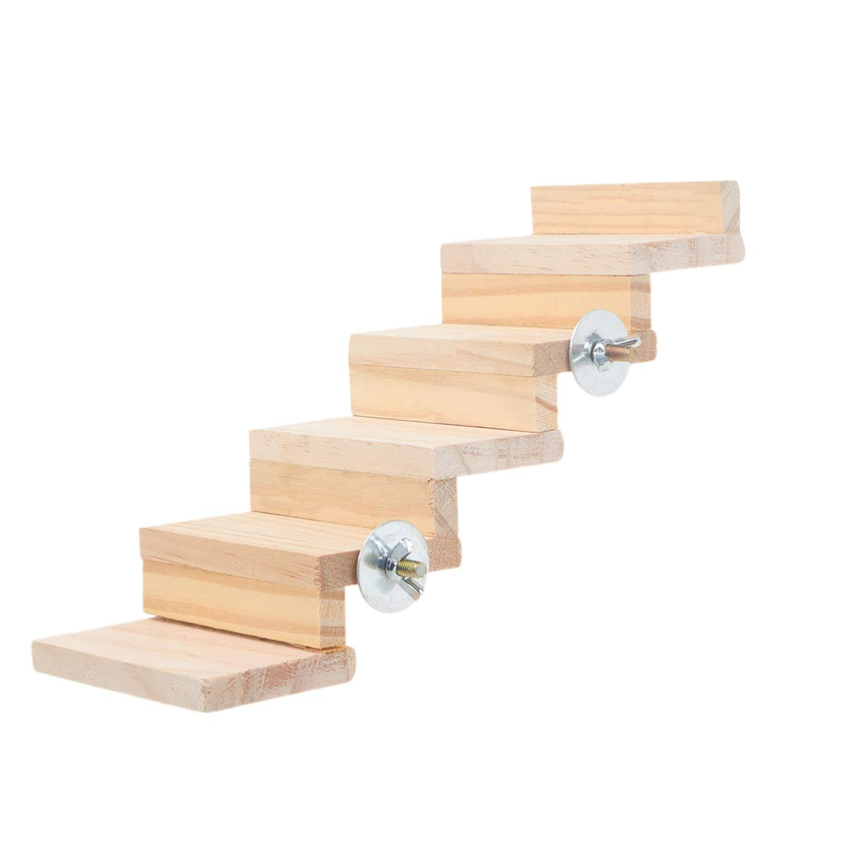 POPETPOP Jaula de Madera Puente Creativo Escalada Juguete Mordedura Juguete Escalera Jugando Modelo Suministros para Mascotas para Pájaro Loro Hámster (5 Escaleras Estilo B): Amazon.es: Hogar