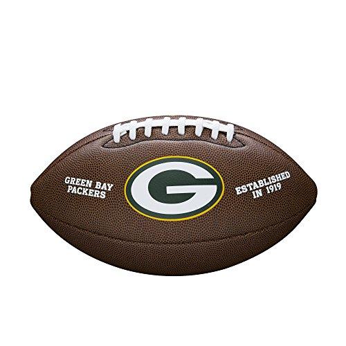 Wilson, Palla da football americano, Team Logo Composite, Green Bay Packers, Pelle composita, Per giocatori amatoriali, Marrone, WTF1748XBGB