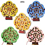 Fliyeong Juguete para bebés y niños, magnético, juego de madera para niños, tablero de rompecabezas intelectual, cajas de rompecabezas D creativas y útiles