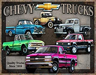 Desperate Enterprises Chevy Trucks Tribute Tin Sign, 16
