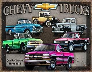 Desperate Enterprises Chevy Trucks Tribute Tin Sign, 16