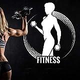 crjzty Fitnessstudio Name Aufkleber Mädchen Hantel Aufkleber Fitness Crossfit Fitness Bodybuilding...