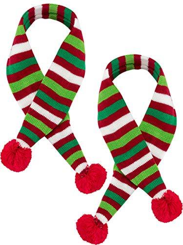 MEWTOGO 2 Dog Santa Scarves