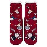 AIni Calcetines Antideslizantes de Navidad de Invierno,Mujer Gruesos de Algodón Calcetines Acogedores,Suaves,Cálidos,Gruesos,Transpirables,Calcetines de Felpa de Copo de Nieve Acogedor para Niña