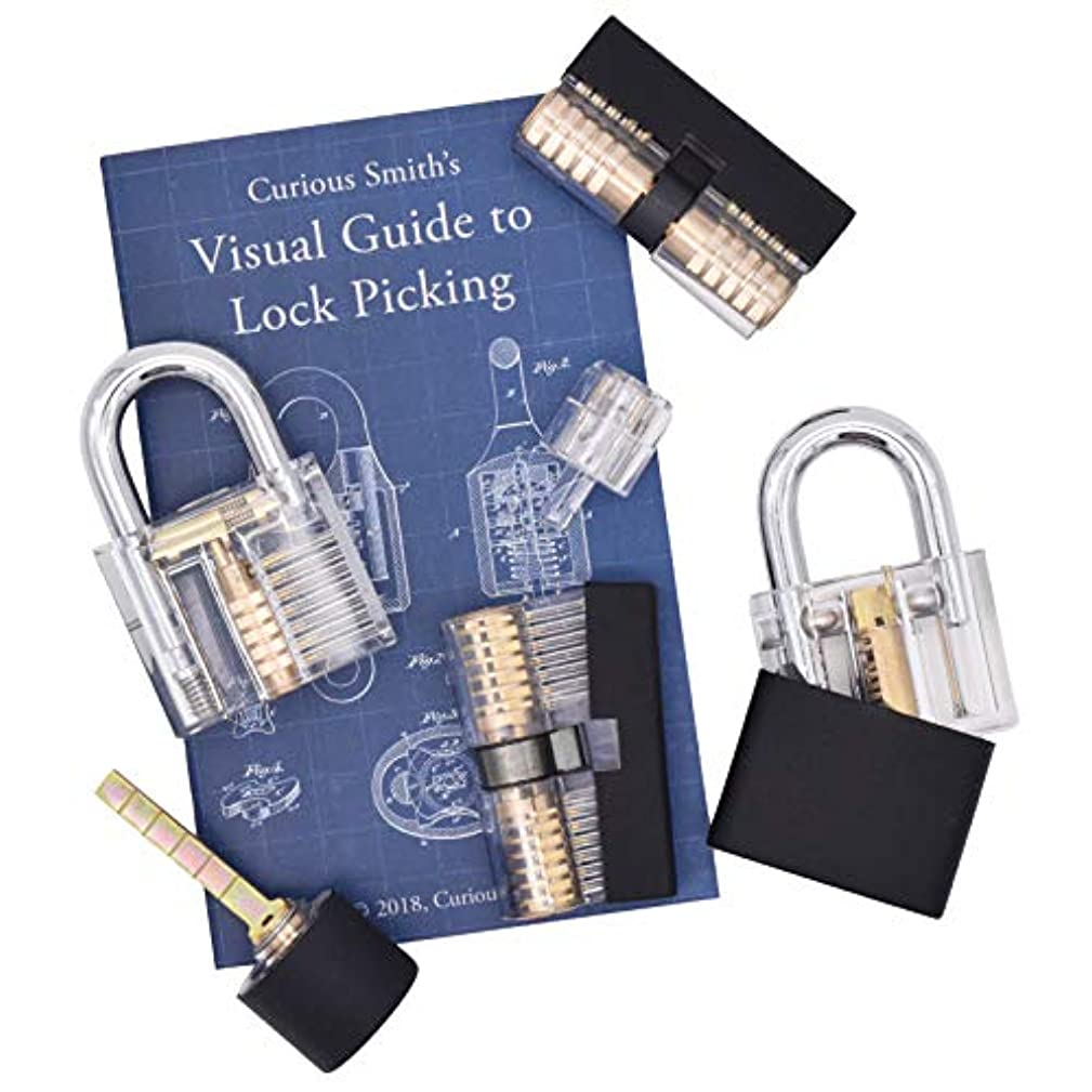 Set of 6 Unique Locks with See Through Housings