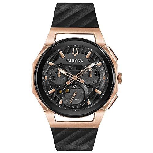 Bulova Herren Chronograph Quarz Uhr mit Gummi Armband 98A185