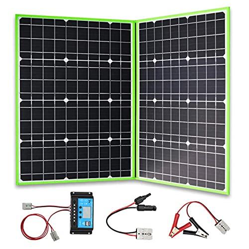 Panel Solar Plegable Portátil Fotovoltaico, para Senderismo, Coche Y Barco, Cargador De Batería De 12v, 40W, 60W, 100 W, 120w, 150W, China (Color : 100w Foldable Solar)