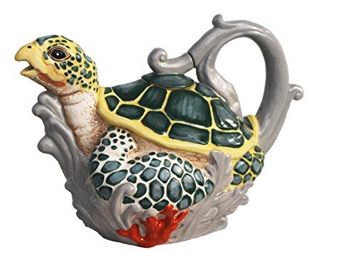 Blue Sky Ceramic, Multicolor 17670 Sea Turtle Teapot
