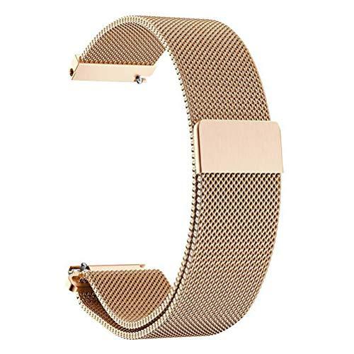 ANNYOO - Brazalete para Samsung Galaxy Watch, 46 mm, 22 mm de ancho, malla de malla de acero inoxidable, correa de metal para Gear S3 Classic/S3 Frontier