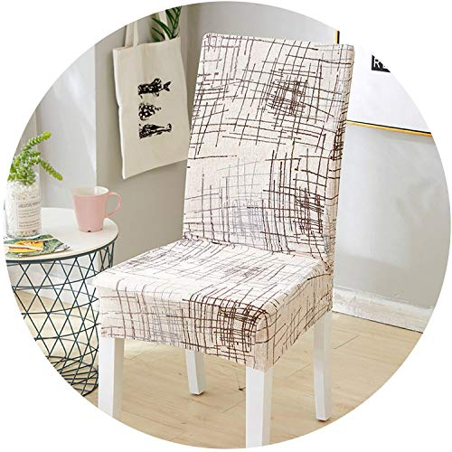 smile-bi Spandex Elastic Dining Chair Covers for Weddings Stretch Chair Slipcover for Office Banquet Kitchen Seat Cover housse de Chaise,Color 4,1 Piece