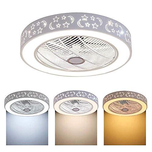 Ventilatore a soffitto dimmerabile illuminazione telecomando, lampada da letto soggiorno