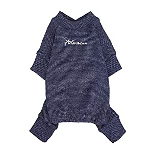 Fitwarm Basics 100% Cotton Lightweight Waffle Knit V-Neck Pet Clothes Dog Jumpsuits Pajamas Onesies Cat Outfits