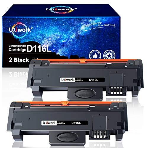 Uniwork D116L Toner Sostituzione per Samsung MLT-D116L Compatibile con Samsung Xpress SL-M2835DW SL-M2825ND SL-M2885FW SL-M2675FN SL-M2875FD SL-M2675F SL-M2625D SL-M2875ND SL-M2875FW (2 Nero)