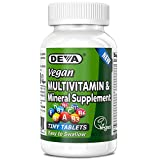 Deva Vegan Multivitamin & Mineral Supplement, Tiny Tablets, Easy to Swallow, 90 Count (Pack of 2)