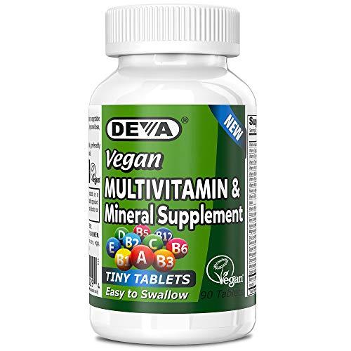 Deva Vegan Multivitamin & Mineral Supplement, Tiny Tablets, Easy to Swallow, 90 Tablets