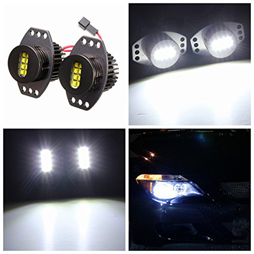 MASUNN 64W Angel Eyes Phare Xenon LED Halo