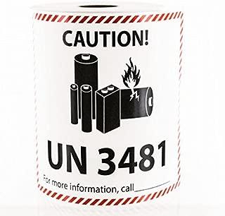 UN 3481 Lithium Battery Handling Labels LV-UN3481