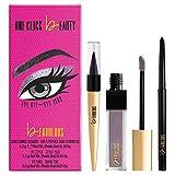 One Click Beauty b.FABULOUS 3-Piece Eye Kit, Longwear Makeup, The Mauves
