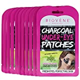 Biovène Charcoal Under-Eye Patches, Pack of 12 (0.21 oz ea.) Energizing Detox for Soft and Moisturized Under-Eyes. With Activated Charcoal, Collagen and Chamomile
