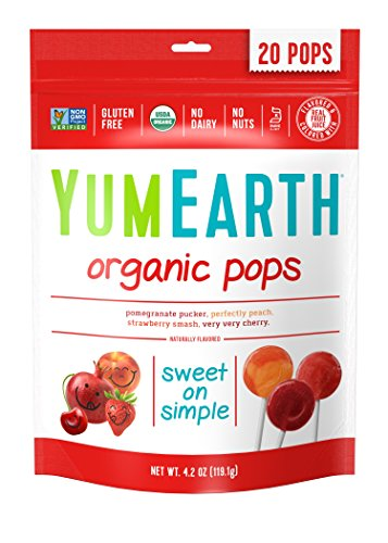 YumEarth Organic Lollipops, Assorted Flavors, 4.2 Ounce (Pack of 6)