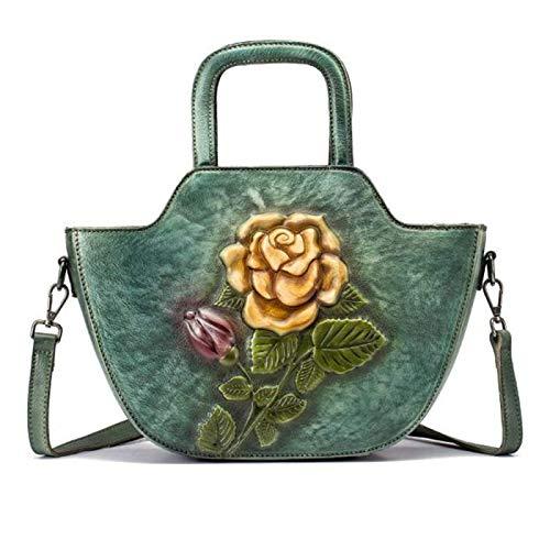 DSFDSG Women's Ladies Genuine Soft Leather Tote Bag Fashion Classic Lightweight Shopping Wallet Tote Bag Messenger Shoulder Bag