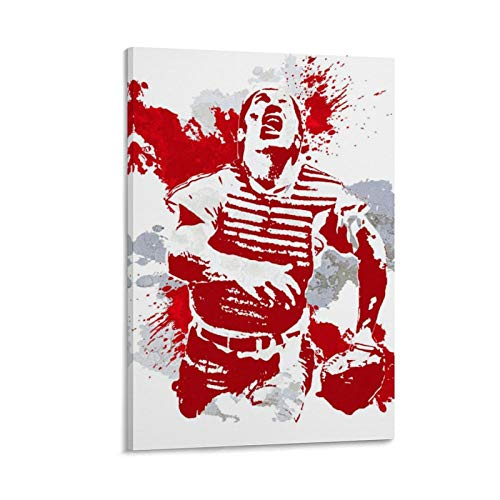 DFGHD Superstar Johnny Bench Baseball Player Poster Poster Decorative Painting Canvas Wall Art Living Room Posters Bedroom Painting 20x30inch(50x75cm)