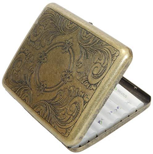 シガレットケース タバコ ケース 喫煙 煙草 20本収納 ヴィンテージ 煙草入れ ワンタッチ 開閉式 Sigarette Case (GW)