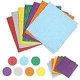 LAITER 14 Stück Mehrfarbig Punkte Patchwork-Stoff Quadrate