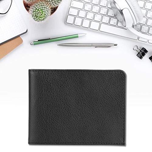 Organizador de tarjetas simple y moderno, práctico de usar, con superficie suave, billetera de cuero PU para guardar varias tarjetas