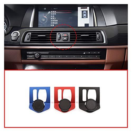 zhuzhu Ajuste for BMW Serie 5 F07 F11 F10 2010-2016 Soporte for teléfono Serie 5 GT 3 Colores aleación de Aluminio móvil Avigation Soporte de Accesorios de Coches (Color Name : Blue)