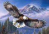 Zimal Homfun Omni-Directional Round Diamond 5D DIY Diamond Painting'Dapeng Wings-Wing Eagle' Embroidery Cross-Stitch 5D Home Decorati 11.8 x 15.8 Inch
