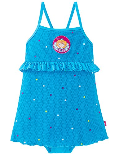 Schiesser Mädchen Aqua Prinzessin Lillifee Badeanzug Einteiler, Blau (Petrol 811), 128