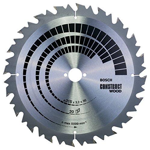 Bosch 2 608 640 701 - Hoja de sierra circular Construct Wood - 315 x 30 x 3,2 mm, 20 (pack de 1)
