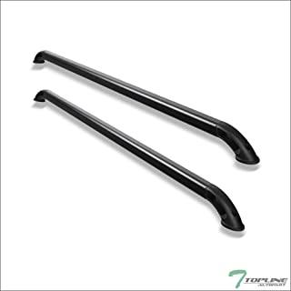 Topline Autopart Matte Black Nylon B Locker Style With Square Shaped Tube Truck Bed Side Rails FRC For 04-12 Chevy Colorado/GMC Canyon / 07-13 Silverado/Sierra 1500 5.8 Ft 69.6 Short Bed