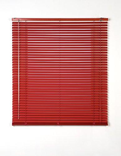 Estores Basic- Persiana Veneciana Aluminio,  Rojo, 150x175 cm