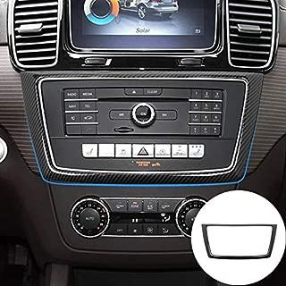 HOTRIMWORLD ABS Carbon Fiber Style Center Console CD Frame Trim Cover 1pcs for Mercedes-Benz GLE W166 Coupe C292 2015-2019