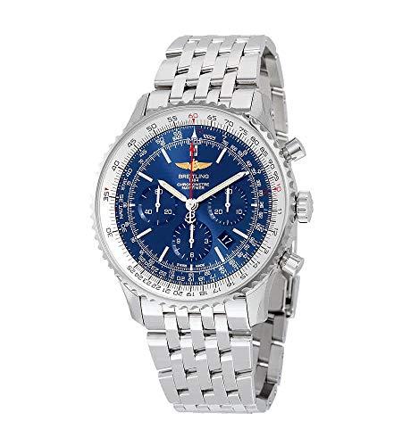 Breitling Navitimer 01 46MM Cronografo Aurora Quadrante Blu Acciaio Inox AB012721-C889SS