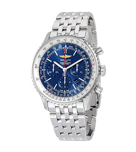 Photo of Breitling Navitimer 01 46MM Chronograph Aurora Blue Dial Stainless Steel Men's Watch AB012721-C889SS