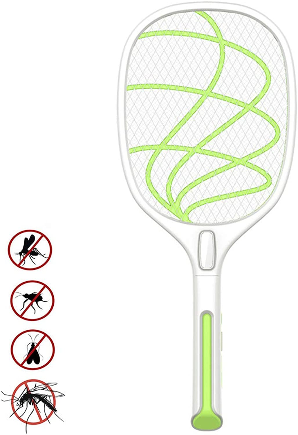 Electric Mosquito Killer, pest Control Tennis Racket, Handheld Mosquito net, USB Charging, Mosquito swatter, Insect Insect Control Killer Mosquito Repellent,Green