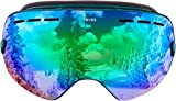 Traverse Virgata Ski, Snowboard, and Snowmobile Goggles, Emerald with Jade REVO Green Lens