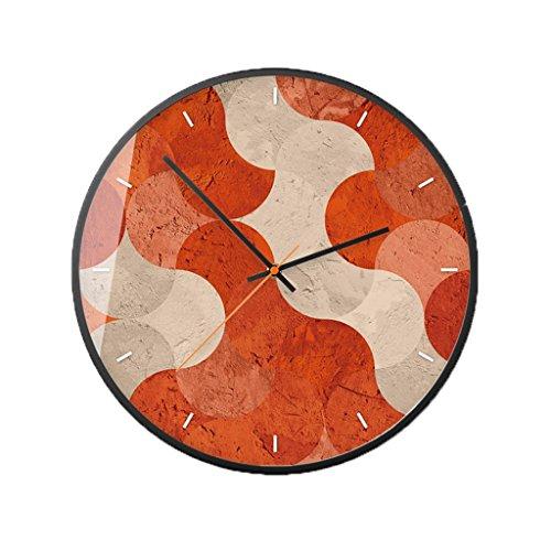 C.MeShKeo clock C-Bin1 Wave textuur mute-wandklok, 30-35,5 cm hotel landelijk paviljoen wandklok meer decoratie