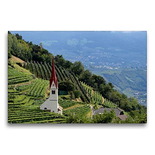 Premium Textil-Leinwand 75 x 50 cm Quer-Format Meraner Höhenweg   Wandbild, HD-Bild auf Keilrahmen, Fertigbild auf hochwertigem Vlies, Leinwanddruck von Crejala