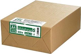 グリーン購入法適合 長門屋商店 ホワイトペーパーR 環境紙 A4 157g【最厚口】 500枚 ナ-RT42 ISO白色度約70%