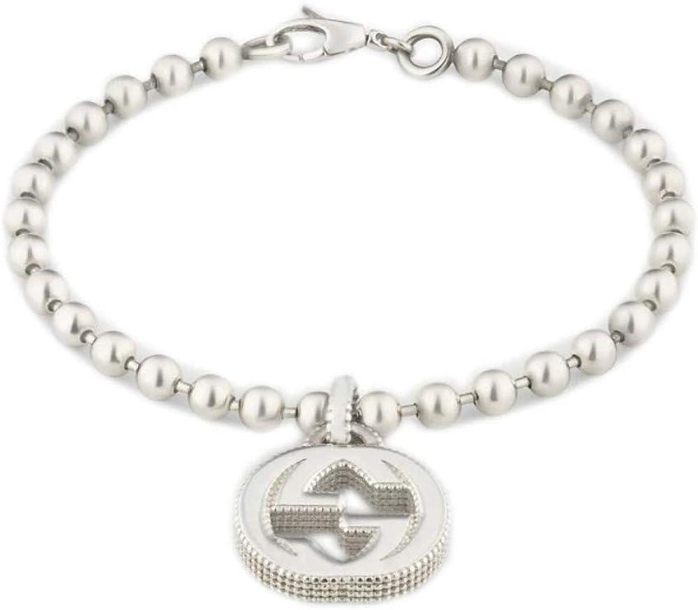 Gucci, bracciale interlocking gg 18 cm,per donna,in argento 925 YBA479226001018